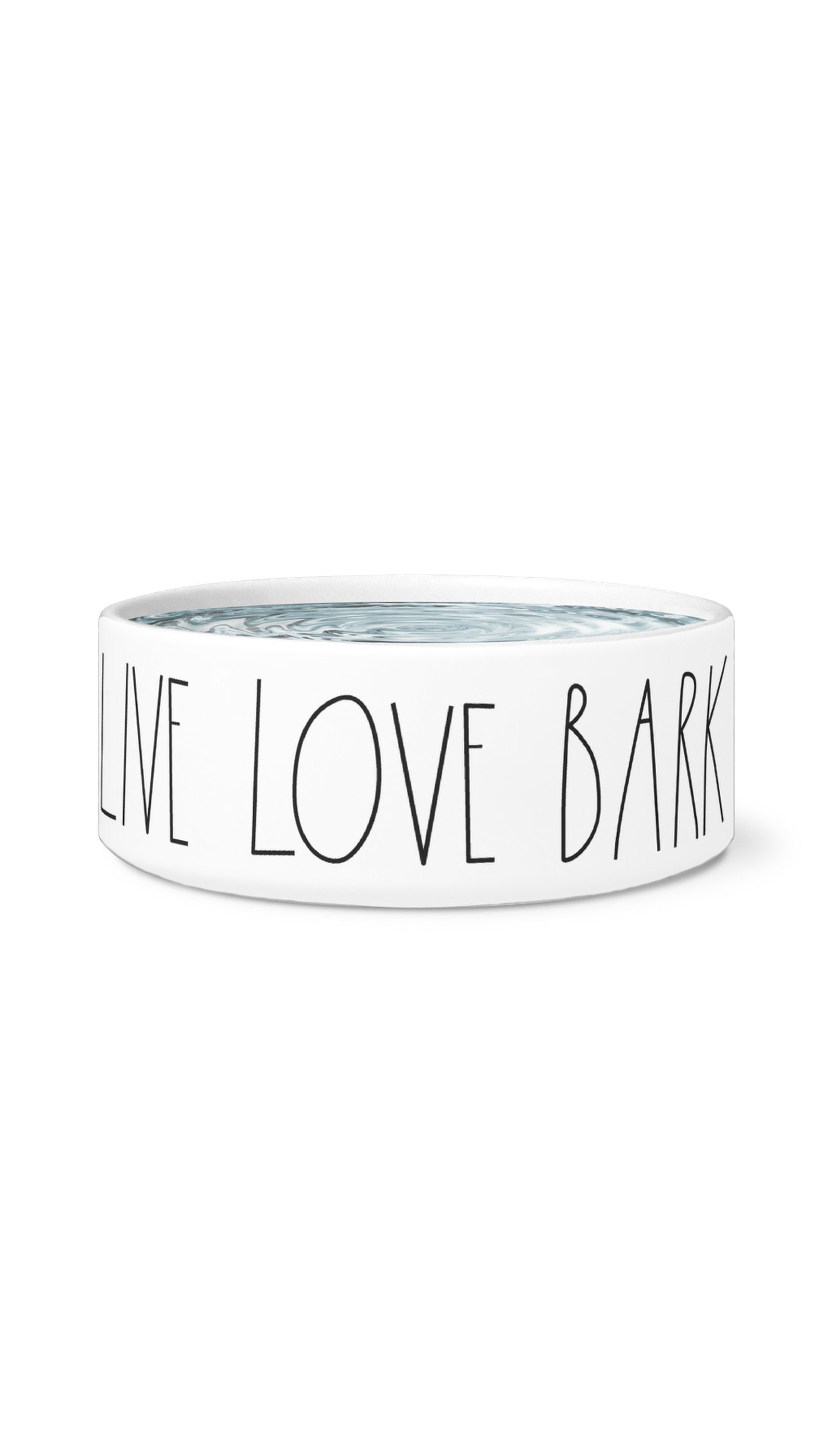Live Love Bark White Pet Bowl | Sarcastic Me