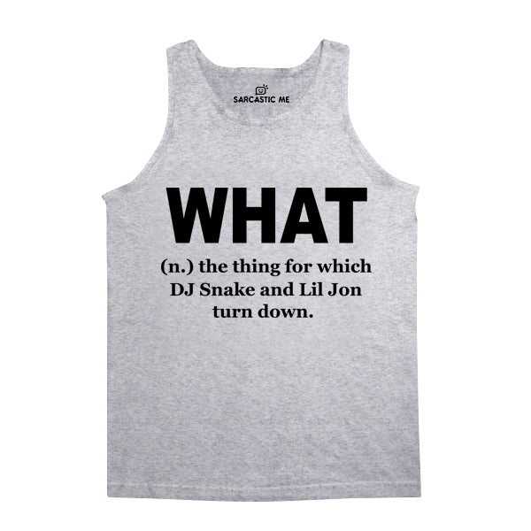 What DJ Snake And Lil John Turn Down Gray Unisex Tank Top | Sarcastic Me