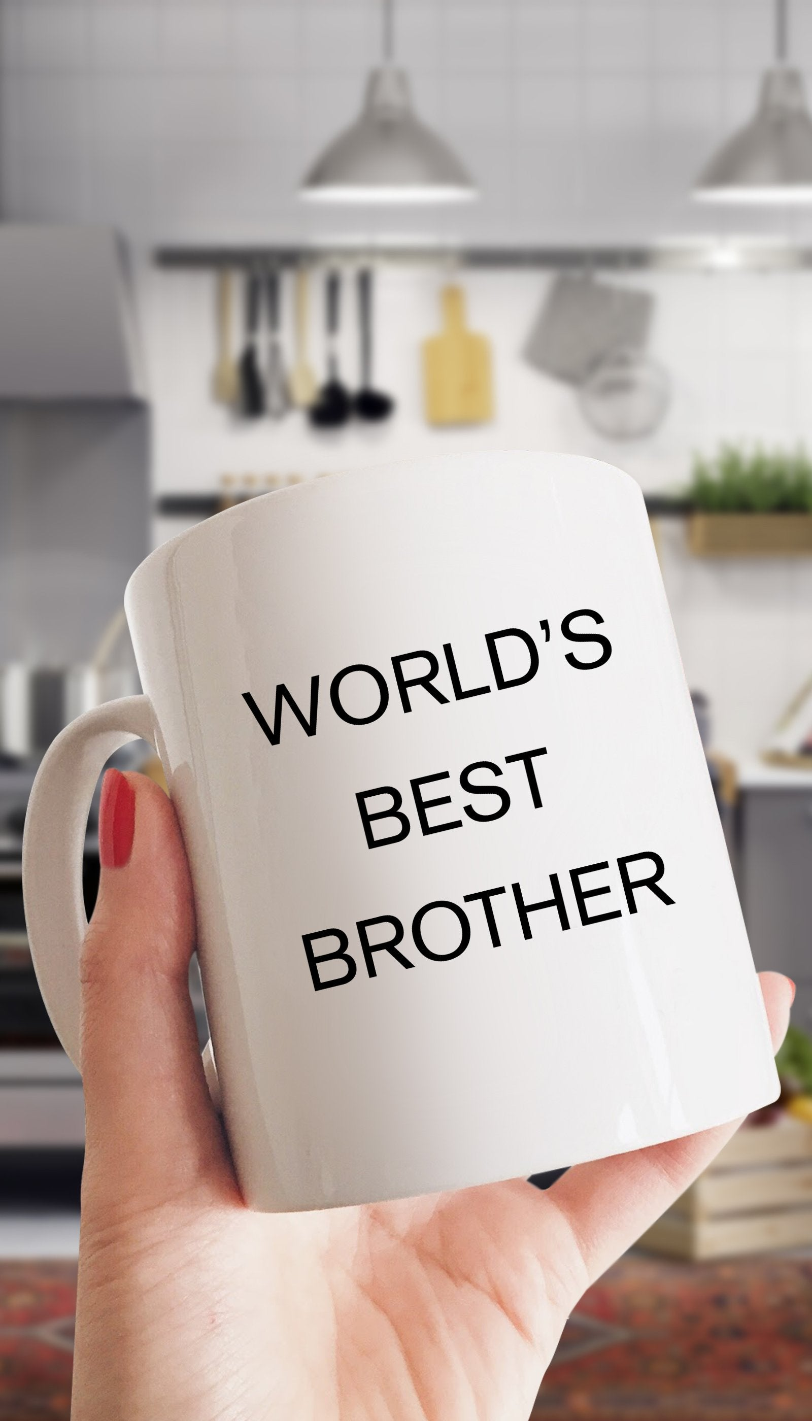 World's Best Brother White Mug | Sarcastic Me