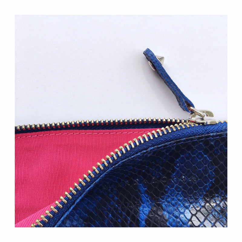 POUCH BLUE SNAKE