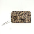 GIGI SMALL CLUTCH WHITE+CHEETAH