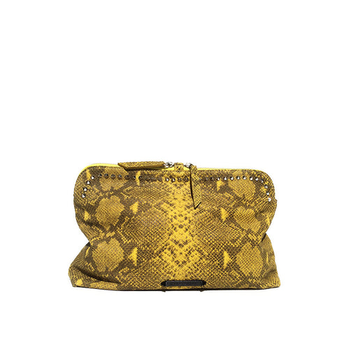GIGI CLUTCH YELLOW SNAKE