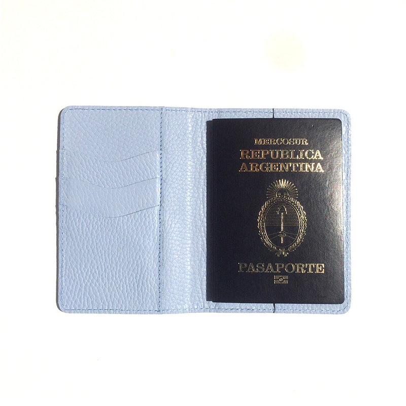 PASSPORT COVER PALE BLUE