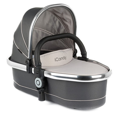 Peach Twin Carrycot Truffle 2 - Chrome