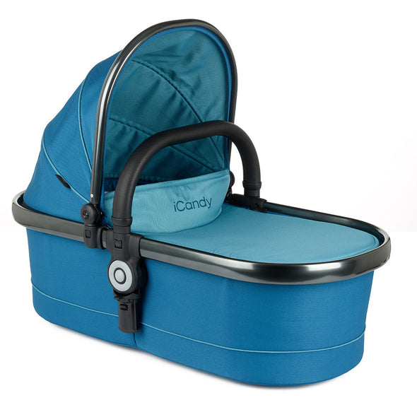 Peach Main Carrycot Peacock - Space Grey