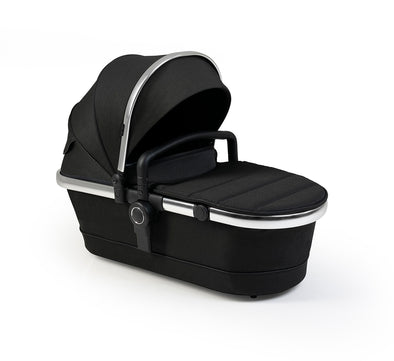 Peach Carrycot  Fabric - Black Twill