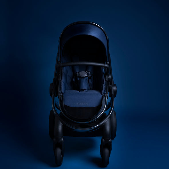 Peach Pram - Phantom Frame, Navy Twill Fabric