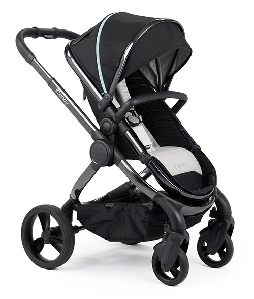 Peach Pram - Phantom Frame, Beluga (Black) Fabric