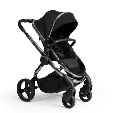 Peach Pram - Phantom Frame, Black Twill Fabric