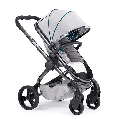 Peach Pram - Phantom Frame, Dove Grey Fabric