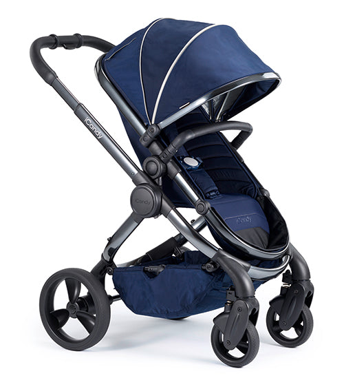 Peach Pushchair & CCFabric Phantom - Indigo