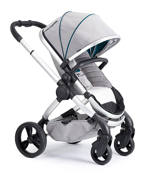 Peach Pushchair & CCFabric Satin - Dove Grey
