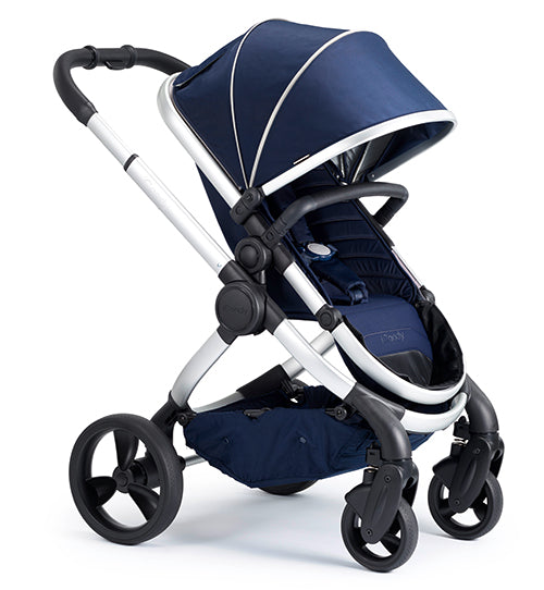 Peach Pushchair & CCFabric Satin - Indigo