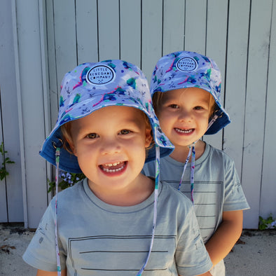 Various Reversible Bucket Hats - Midi Size (47cm-53cm) to suit most toddlers.