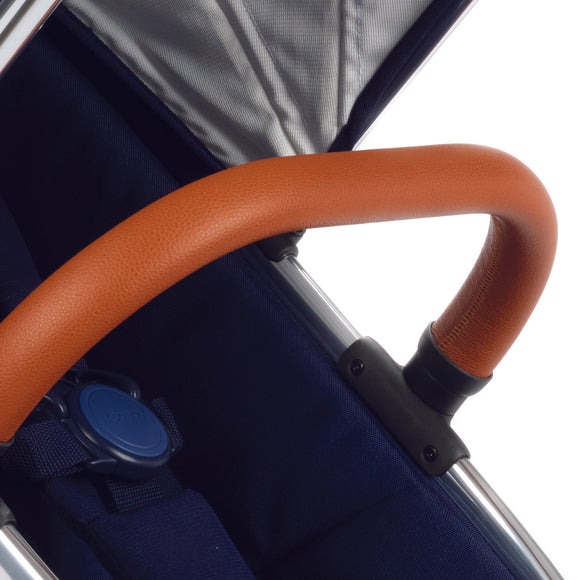 Peach Bumper Bar  -  Tan Leatherette
