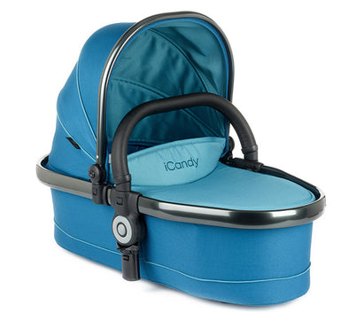 Peach Twin Carrycot Peacock - Space Grey