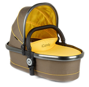 Peach Twin Carrycot Honeycomb - Space Grey