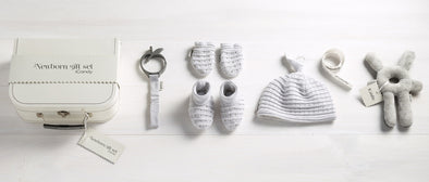 Newborn Gift Set Cool Cotton - Light Grey