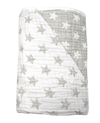 Spotty Giraffe - Muslin Quilt 6 layer, Grey