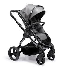 Peach Pram - Phantom Frame, Grey Twill Fabric