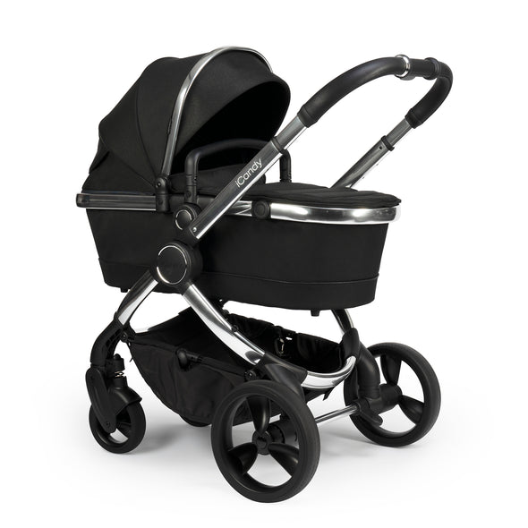 Peach Pushchair & CCFabric Phantom Black Twill