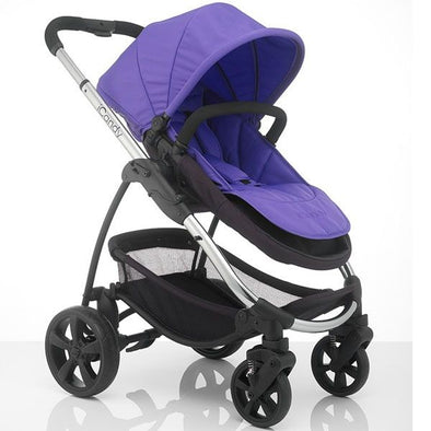 Strawberry 2 Pram and Carrycot Combo - Purple