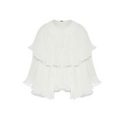 BELLE PLEATED CAPE