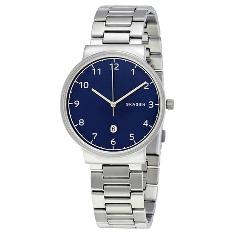 Skagen Ancher Blue Dial Men's Watch SKW6295 - The Watches Men & Co - 1