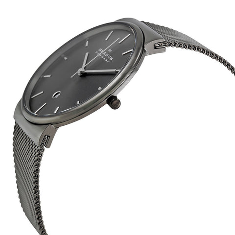 Skagen Ancher Grey Dial Grey Ion-plated Mesh Men's Watch SKW6108 - The Watches Men & Co - 2