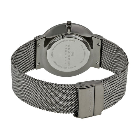 Skagen Ancher Grey Dial Grey Ion-plated Mesh Men's Watch SKW6108 - The Watches Men & Co - 3