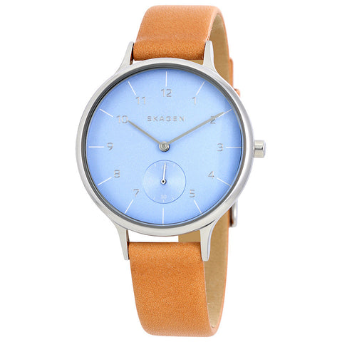 Skagen Anita Blue Dial Ladies Casual Watch SKW2433 - The Watches Men & Co - 1