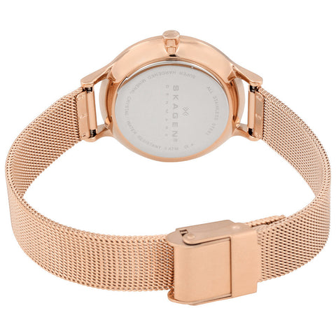 Skagen Anita Silver Dial Rose Gold-tone Ladies Watch SKW2151 - The Watches Men & Co - 3