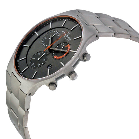 Skagen Balder Chronograph Grey Dial Titanium Men's Watch SKW6076 - The Watches Men & Co - 2