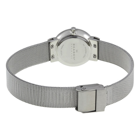 Skagen Black Dial Stainless Steel Mesh Ladies Watch 358SSBD 358SSSBD - The Watches Men & Co - 3