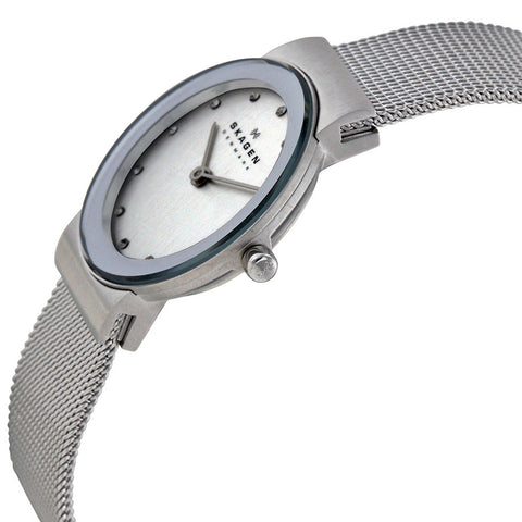 Skagen Classic Chrome Dial Mesh Ladies Watch 358SSSD - The Watches Men & Co - 2