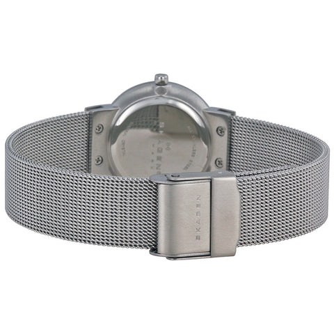 Skagen Classic Chrome Dial Mesh Ladies Watch 358SSSD - The Watches Men & Co - 3