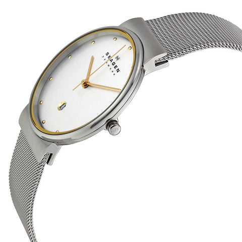 Skagen Classic Silver Dial Stainless Steel Mesh Men's Watch 355LGSC - The Watches Men & Co - 2