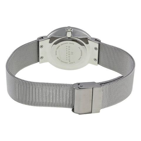 Skagen Classic Silver Dial Stainless Steel Mesh Men's Watch 355LGSC - The Watches Men & Co - 3