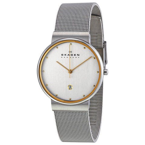 Skagen Classic Silver Dial Stainless Steel Mesh Men's Watch 355LGSC - The Watches Men & Co - 1