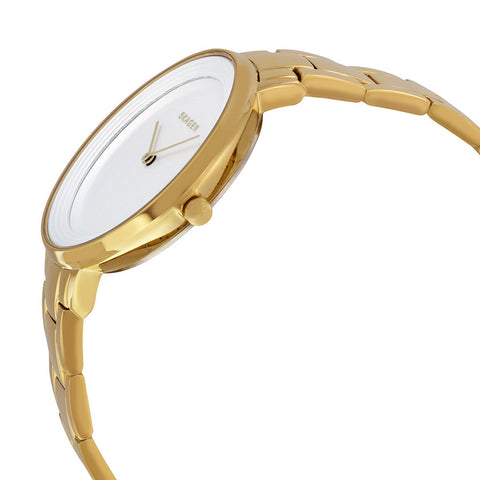 Skagen Ditte Silver Dial Gold-Tone Stainless Steel Ladies Watch SKW2330 - The Watches Men & Co - 2