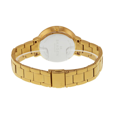 Skagen Ditte Silver Dial Gold-Tone Stainless Steel Ladies Watch SKW2330 - The Watches Men & Co - 3