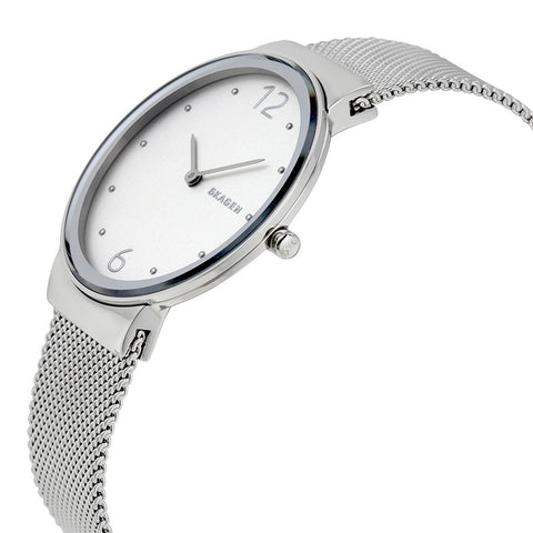 Skagen Freja Silver Dial Stainless Steel Ladies Watch SKW2380 - The Watches Men & Co - 2