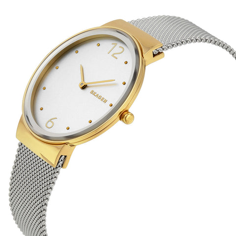 Skagen Freja Silver Dial Two Tone Ladies Watch SKW2381 - The Watches Men & Co - 2