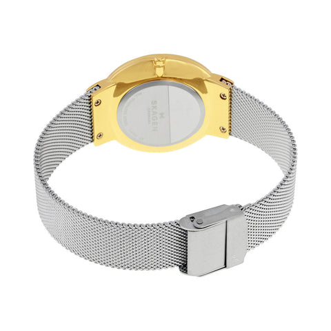 Skagen Freja Silver Dial Two Tone Ladies Watch SKW2381 - The Watches Men & Co - 3