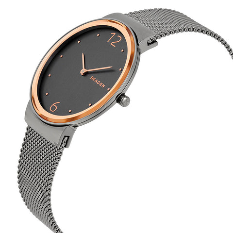 Skagen Freja Smoke Dial Two Tone Ladies Watch SKW2382 - The Watches Men & Co - 2
