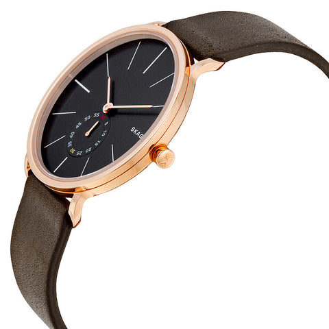 Skagen Hagen Brown Leather Men's Watch SKW6213 - The Watches Men & Co - 2