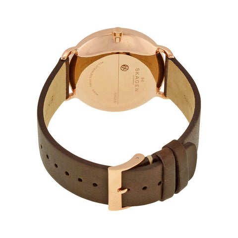 Skagen Hagen Brown Leather Men's Watch SKW6213 - The Watches Men & Co - 3