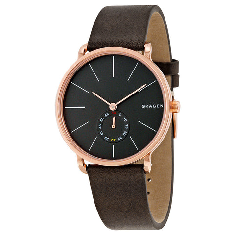 Skagen Hagen Brown Leather Men's Watch SKW6213 - The Watches Men & Co - 1