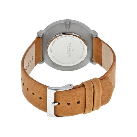 Skagen Hald Blue Dial Tan Leather Men's Watch SKW6167 - The Watches Men & Co - 3