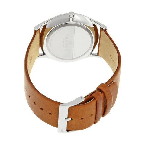 Skagen Holst White Dial Brown Leather Men's Watch SKW6219 - The Watches Men & Co - 3